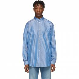Balenciaga Blue Stripe Logo Shirt 201342M19202604GB