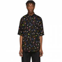 Balenciaga Black Crepe Celebration Shirt 201342M19201704GB