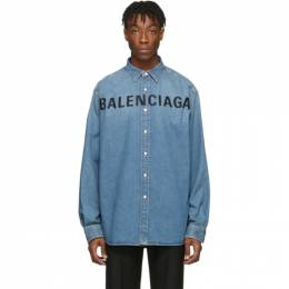 Balenciaga Indigo Denim Logo Shirt 201342M19201804GB
