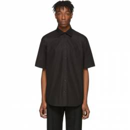 Balenciaga Black Rubber Logo Short Sleeve Shirt 201342M19202301GB