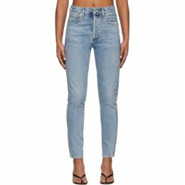 Citizens of Humanity Blue Liya High-Rise Classic Fit Jeans 1577-837