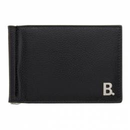 Balenciaga Black B. Bill Clip Square Wallet 601346-1IZ03