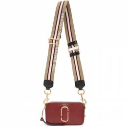 Marc Jacobs Red and Burgundy Small Snapshot Camera Bag M0012007