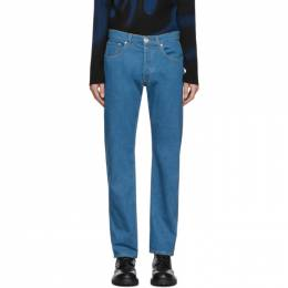 Lanvin Blue Washed Straight Jeans RM-TR0007-DZ01-P20