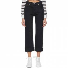 Re/done Black 90s Loose Straight Jeans 184-3WLSTR