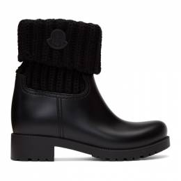 Moncler Black Knit Ginette Boots 4G700 00 01623