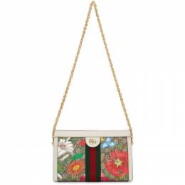Gucci White and Multicolor Small GG Flora Ophidia Bag 503877 HV8AC