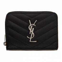 Saint Laurent Black Small Compact Monogramme Wallet 403723 BOW02