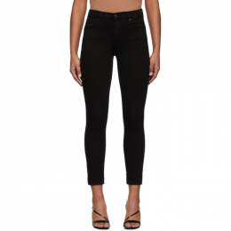 Citizens of Humanity Black Rocket Crop Mid-Rise Skinny Jeans 1487-1149