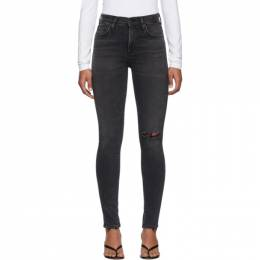 Citizens of Humanity Black Rocket Mid-Rise Skinny Jeans 1416-1149