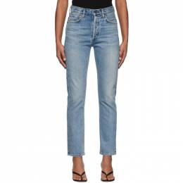 Citizens of Humanity Blue Charlotte High-Rise Straight Jeans 1731B-837