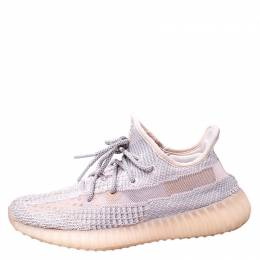 Yeezy x Adidas Light Pink/Grey Cotton Knit Boost 350 V2 Synth Non-Reflective Sneakers Size 41.5 249866
