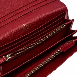 Valentino Red Leather Continental Wallet 250894
