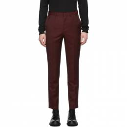 Hugo Hugo Boss Burgundy Wool German 194 Trousers 50422841