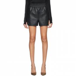 Wolford Black Faux-Leather Stella Shorts 52681