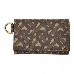 Burberry Brown Monogram E-Canvas Small Finn Wallet 8022961