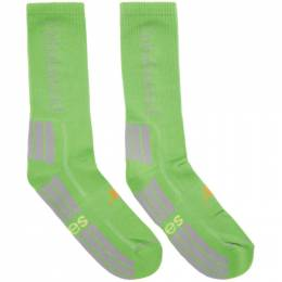 Green New Balance Edition Unbalanced Socks Aries NBAR00040