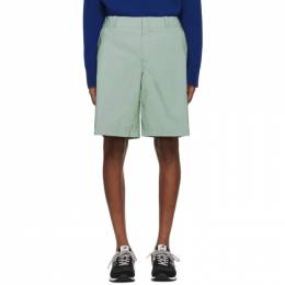 Sies Marjan Green Reflective Sterling Shorts M7PR614-REFLECTIVE