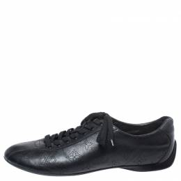 Louis Vuitton Black Mahina Leather Low Top Sneakers Size 39.5 252274