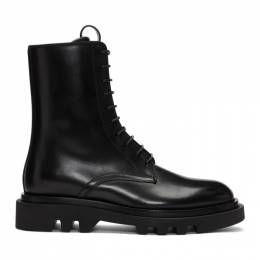 Givenchy Black Leather Combat Boots BH601JH0KF