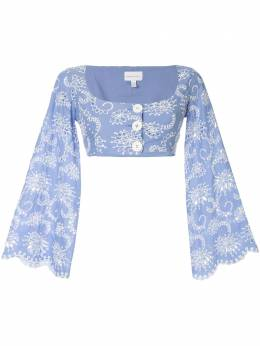 Alice Mccall укороченный топ Cloud Obscurity AMT30124CORNFLOWER