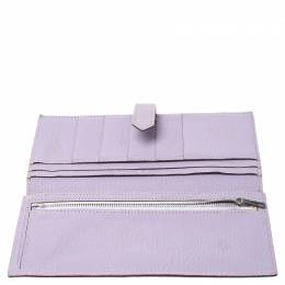 Hermes Lilas Chevre Leather Bearn Gusset Wallet 253599