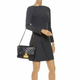 Marc Jacobs Navy Blue Quilted Leather Flap Crossbody Bag 252581