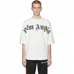 Palm Angels Off-White Front Logo Over T-Shirt PMAA002R204130010210