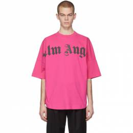 Palm Angels Pink Front Logo Over T-Shirt PMAA002R204130012810