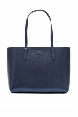 Синяя сумка Central Tote With Zip Coach 2219172723