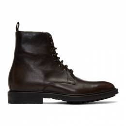 Paul Smith	 Brown Arno Boots M1S-ANO02-ACARV