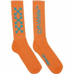 Off-White Orange and Blue Arrows Socks OMRA001R201200231931