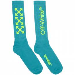 Off-White Blue and Yellow Arrows Socks OMRA001R201200233162