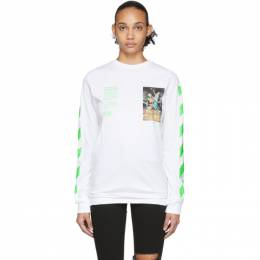 Off-White White Pascal Painting Long Sleeve T-Shirt OMAB001R201850140188