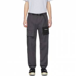 Palm Angels Grey Two Tone Cosy Cargo Pants PMCA064R207410010810