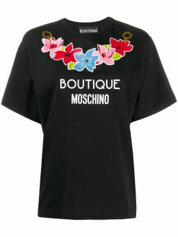 Boutique Moschino футболка с логотипом A12011140