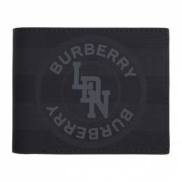 Burberry	 Grey London Check Wallet 8022564