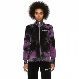 Palm Angels Black and Purple Chenille Tie-Dye Track Jacket PMBD001R204690141014