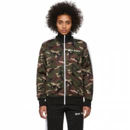 Palm Angels Green Camo Classic Track Jacket PMBD001R203880019901