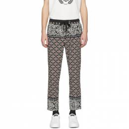 Dolce and Gabbana Black and Red Bandana Print Trousers GYU6ET FPCA7