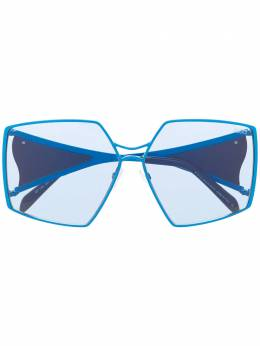 Emilio Pucci abstract print oversized sunglasses EP01256190V