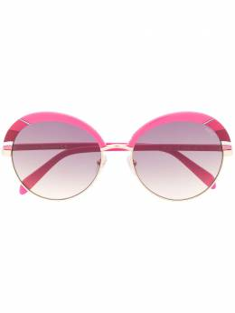 Emilio Pucci abstract print round frame sunglasses EP01025777T