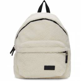 Eastpak Beige Shearling Padded Pakr Backpack ek62098x