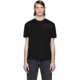 McQ Alexander McQueen Black and Red Logo T-Shirt 291571ROT24