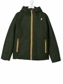 hooded check pattern jacket K Way Kids K009NI0