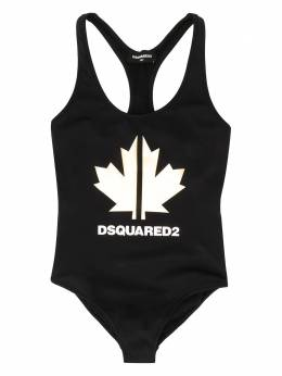 TEEN Maple leaf-print swimsuit Dsquared2 Kids DQ040XD00YS