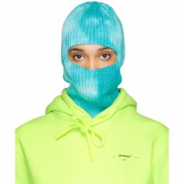 Off-White Blue Knit Balaclava OMLC006R200200013100