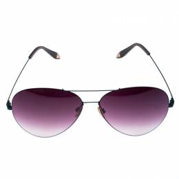 Victoria Bekham Green/Dark Purple Gradient Aviator Sunglasses Victoria Beckham