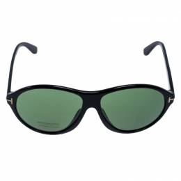 Tom Ford Black/Green Tyler Oval Sunglasses