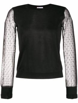 Red Valentino tulle sleeve jumper TR3KCC694Y8